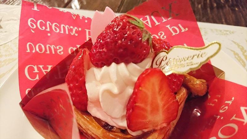 栗の木テラス 季節のケーキ イチゴのパイ